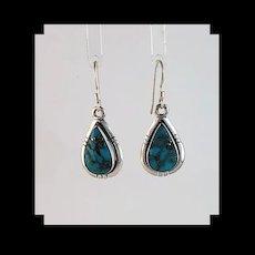 Sterling and Ithaca Peak Turquoise Earrings