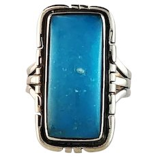 Navajo Sterling and Sleeping Beauty Turquoise Size 6 1/2