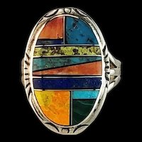 Multi Stone Inlay Ring by Melissa Yazzie