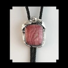 Sterling and Rhodochrosite Bolo by Ted Secatero