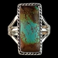 Navajo Sterling and Pilot Mountain Ring Size 7 3/4
