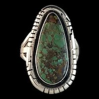 Sterling and Turquoise Ring by Navajo Artist Richard Kee  Size 9