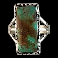 Navajo Sterling and Pilot Mountain Ring  Size 9