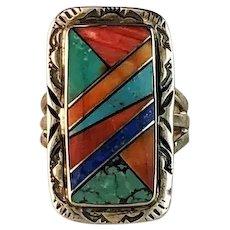 Native American Multi Stone Ring  Size 7