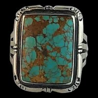 Navajo Sterling and Turquoise Ring Size 9 1/2