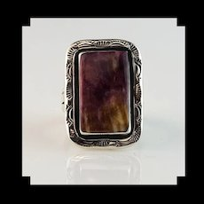 Navajo Deep Purple Spiny Oyster Ring  Size 9 3/4