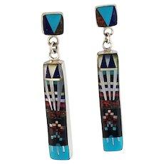Micro Inlay Earring by Navajo Artist Stan Slim