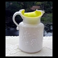 Kanawha's Embossed Cased Glass Pitcher