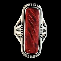 Navajo Sterling and Deep Rust Spiny Oyster