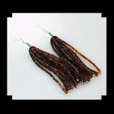 White Fox Creation: Hessonite (Cinnamon) Garnet Earrings
