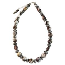 White Fox Creation: Chunk Sterling and Wild Horse Magnesite Necklace