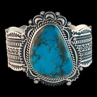 Navajo Sterling and Turquoise Unisex Bracelet
