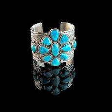 Extra Wide Navajo Bracelet by Tillie Jon