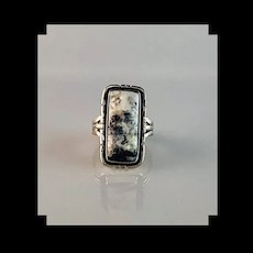Sterling and White Buffalo Ring by Melissa Yazzie   Size 7