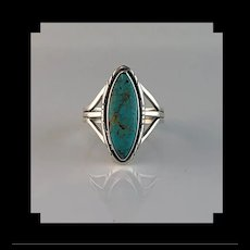 Navajo Sterling and Turquoise Ring Size 12 1/4