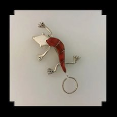Adorable Native American Gecko Pendant/Brooch