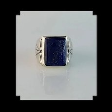Navajo Sterling and Lapis Men's Ring