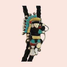 Zuni Hoop Dancer Bolo by Zuni Artist Linette Laiwakete