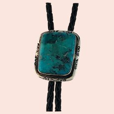 Sterling and Turquoise Bolo by Navajo Artist Terri Wood