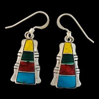 Native American Inlay Earrings