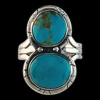 Navajo Made Sterling and Turquoise Ring