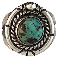 Old New Stock Navajo Turquoise Ring