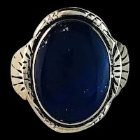 Sterling and Lapis Lazuli Ring by Melissa Yazzie