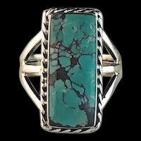 Sterling and Turquoise Ring by Navajo Artist Terri Wood