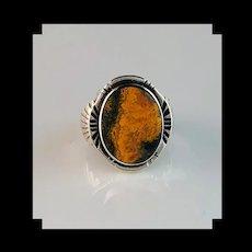 Navajo Sterling and Bumblebee Jasper Ring