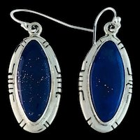 Sterling and Lapis Lazuli Earrings by Melissa Yazzie