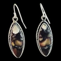 Navajo Sterling and Wild Horse Magnesite Earrings