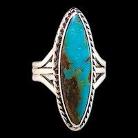 Navajo Sterling and Pilot Mountain Turquoise Ring