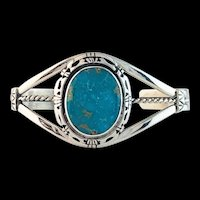 Sterling and Turquoise Bracelet by Navajo Artist Terri Wood