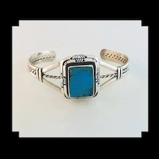 Sterling and Turquoise Bracelet by Melissa Yazzie
