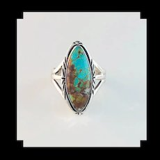 Sterling and Turquoise Ring by Navajo Artist Melissa Yazzie