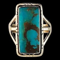 Navajo Sterling and Turquoise Ring by Melissa Yazzie