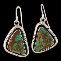 Sterling and Royston Turquoise Earrings by Melissa Yazzie