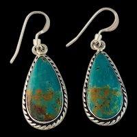 Sterling and Turquoise Earrings by Navajo Artist Terri Wood