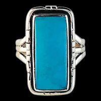 Navajo Sterling and Sleeping Beauty Turquoise Ring