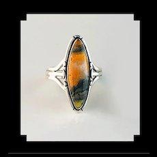 Sterling and Bumblebee Jasper Ring by Navajo Terri Wood