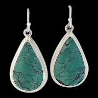 Navajo Sterling and Turquoise Earrings by Terri Wood