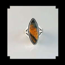 Sterling and Bumblebee Jasper Ring by Melissa Yazzie