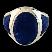 Sleek Native American Lapis Lazuli Ring