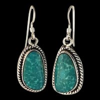 Sterling and Turquoise Earring by Navajo Artist Terri Wood