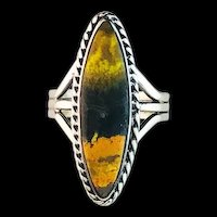 Navajo Sterling and BumbleBee Jasper Ring