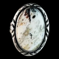Navajo Sterling and White Buffalo Ring