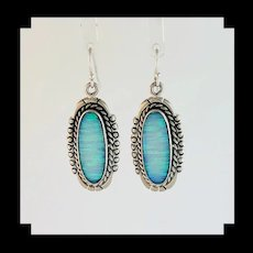 Navajo Sterling and White Opalite Earrings