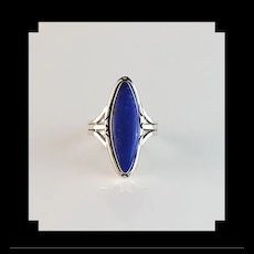 Sterling and Lapis Lazuli Ring by Navajo Terri Wood