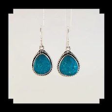 Sterling and Turquoise Earrings by Navajo Artist Terri Wood
