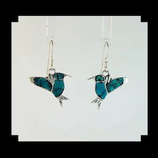 Adorable Turquoise Hummingbird Earrings